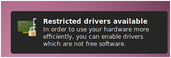 Restricted drivers avaiable