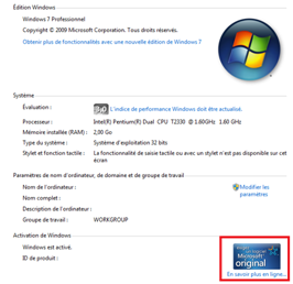 Comment activer windows 7