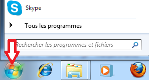 Bouton démarrer Windows 7