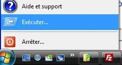 Application Exécuter Windows XP
