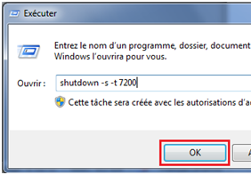 Programmer windows 7 à s'éteindre automatiquement