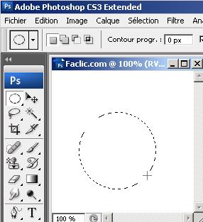 Tracer un cercle sous Photoshop