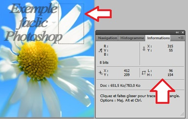 Mesurer en pixel Photoshop