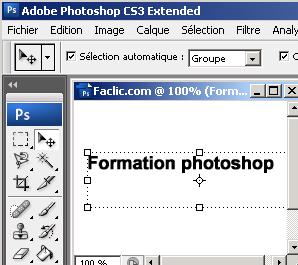 Texte Photoshop