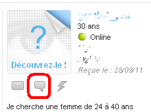 Icone de chat meetic