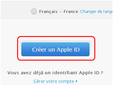 faire identifiant apple