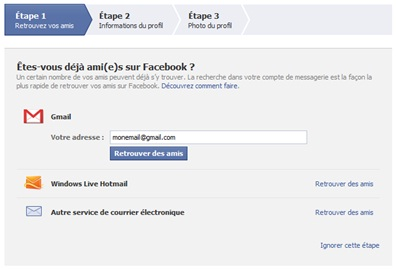 facebook un autre compte