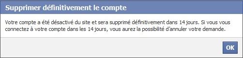 Comment supprimer un compte Facebook définitivement