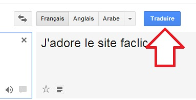 Résultat traduction Google Translate