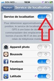 activer localisation gps iphone 6 Plus