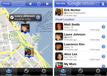 Latitude pour iPhone