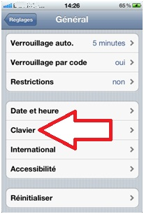 Bouton Clavier iPhone