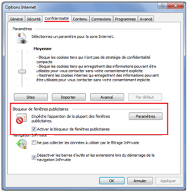 Comment bloquer les popup for Bloquer fenetre pop up firefox
