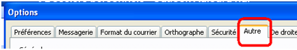 Bouton Autres outlook