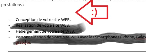 Trait de séparation supprimé de Word