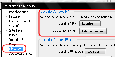 AUDACITY MP3 TÉLÉCHARGER ENCODEUR