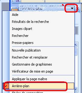 Modifier l arri re plan d une composition publisher - Comment mettre une photo en arriere plan sur open office ...