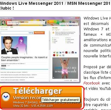2011 MESSENGER TÉLÉCHARGER CLUBIC MSN