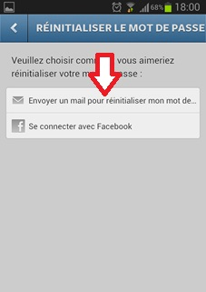 mot de passe instagram facebook