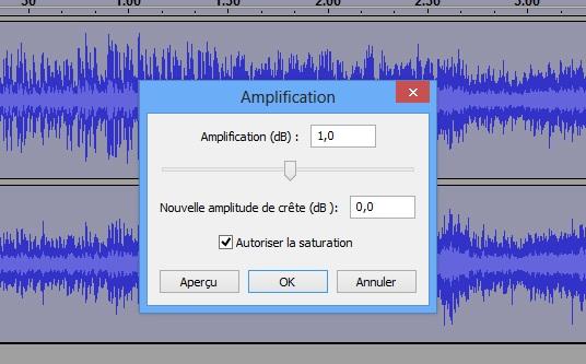 Amplification du son avec Audacity
