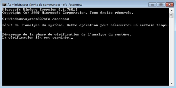 Réparer Windows Avec l'invite de commandes