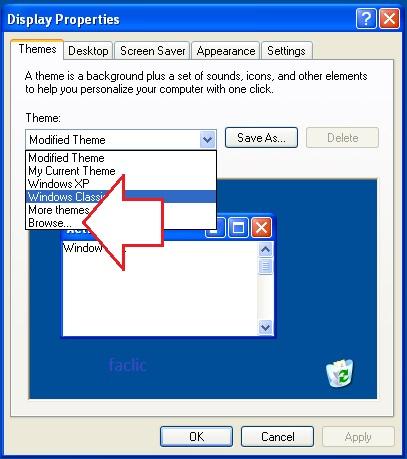 Parcourir les thème Windows XP