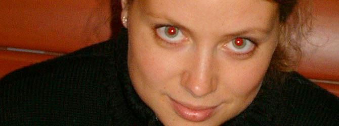 Photo avec des yeux rouges