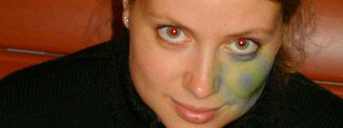 Utilisation de l'outil yeux rouges