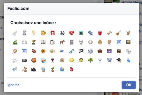 icône de groupe Facebook