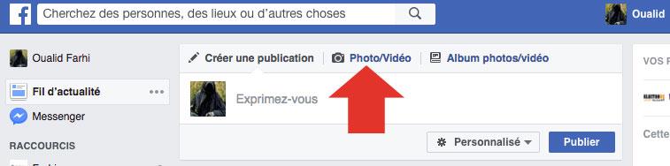 Bouton Vidéo Facebook