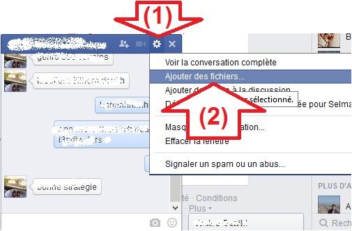 Envoyer message par la discussion de Facebook