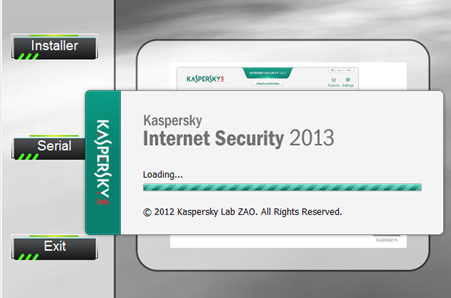 Chargement de la fenêtre d'activation de Kaspersky