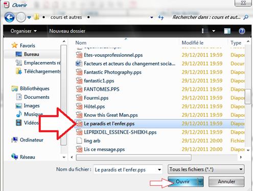 Choisir le fichier à convertir en PDF