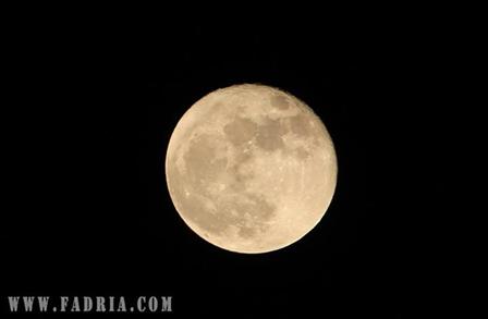 Photo de la lune prise avec un zoom