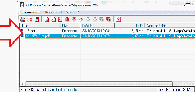 Ajout d'un nouveau document PDF à fusionnr