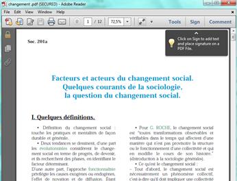 Un doccument PDF