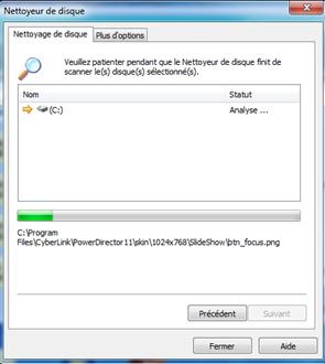 Préparation du nettoyage de disque