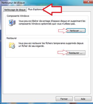 Supprimer les composants Windows non utilisés