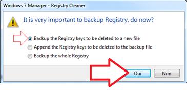 Faire un backup des données avant d'effacer