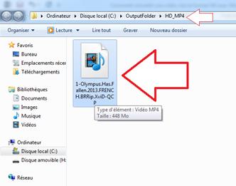 Fichier final converti en HD MP4