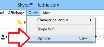 Options Skype