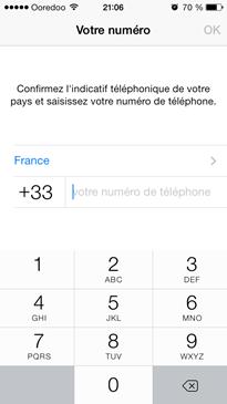 Numéro de téléphone utilisé sur Whatsapp