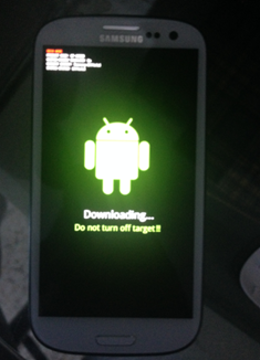 Galaxy S3 mode Downloading