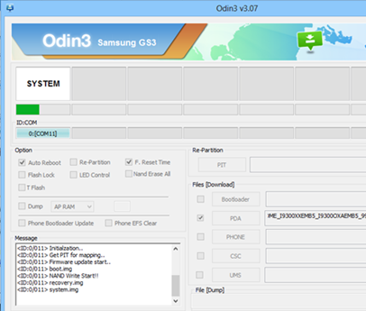 Odin installe Android sur Galaxy S3