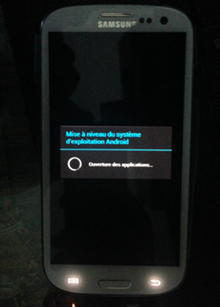 Finalisation d'installation d'Android