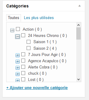 Nombre d'article devant chaque catégorie WordPress