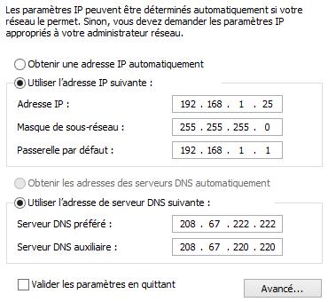 Les adresse IP et DNS