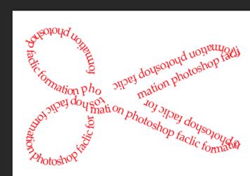Texte sous forme d'un ciseau