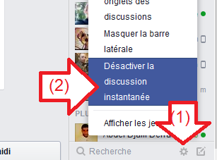 Discussion instantanée Facebook