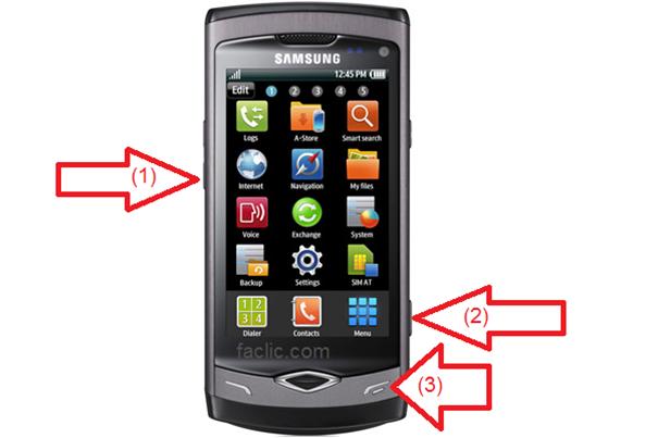 Procédure pour démarrer Samsung Wave S8500 en mode Download